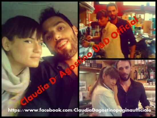 Claudia D'Agostino e il fratello di Andrea Offredi