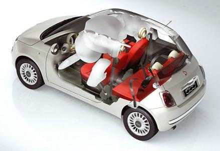 Il sistema Airbag della Fiat 500
