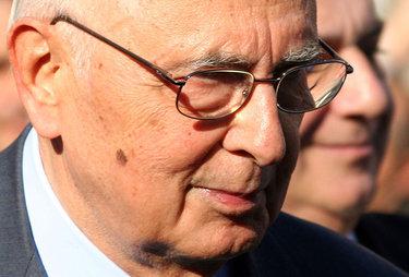 Giorgio Napolitano ha incontrato Giulia, Luca, Marta, Paola e Simone (Foto: ANSA)