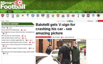 Balotelli insultato da un tifoso a Manchester