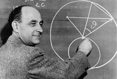 Enrico Fermi alla lavagna