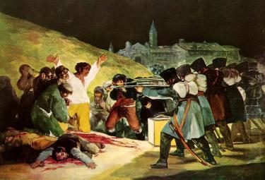 F. Goya, la fucilazione del