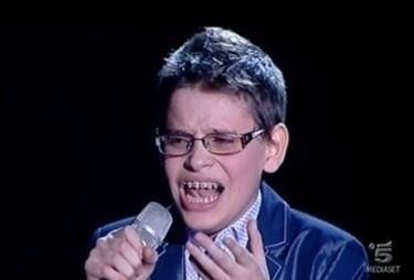Foto: Cristian Imparato, 13 anni, talento di Io canto