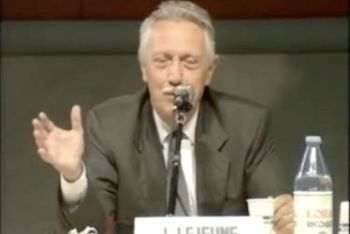 Jérôme Lejeune attended the Rimini Meeting in 1990