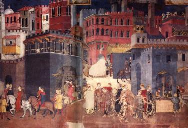 Ambrogio Lorenzetti, Effetti del buon governo (1337-1340), particolare