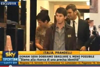 Messi ieri a Milano