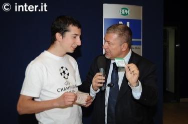 Paolo Sacco con Roberto Scarpini (foto inter.it)