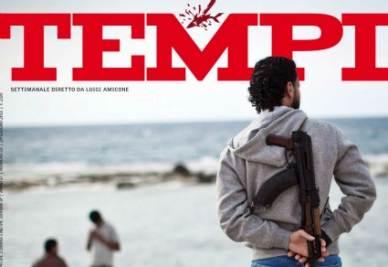 La copertina di Tempi in edicola