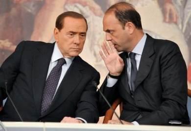 Angelino Alfano e Silvio Berlusconi (Imagoeconomica)