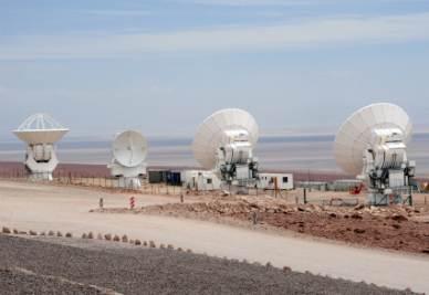 Le prime antenne che comporranno Alma (Foto Alma)