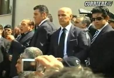Berlusconi a Lampedusa (Corriere della Sera)