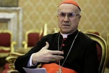 Il cardinal Tarcisio Bertone