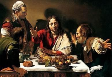 Caravaggio, Cena in Emmaus, 1601-02 (immagine d'archivio)