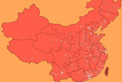 Map of the Laogai in China