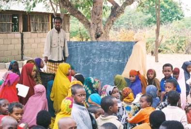 School in the Dadaab refugee camp