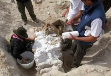 Il team di ricercatori al lavoro allo scavo in Tunisia