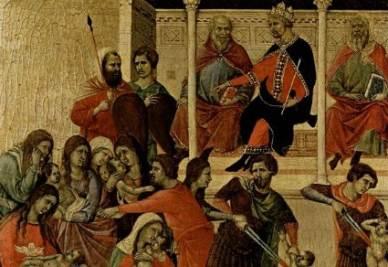 Duccio di Buonsinsegna, Maestà - La strage degli innocenti