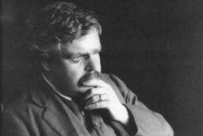 Gilbert Keith Chesterton (immagine d'archivio)