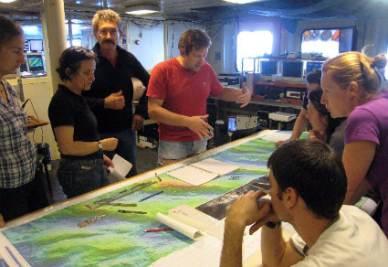 Il gruppo dei geobiologi al lavoro
