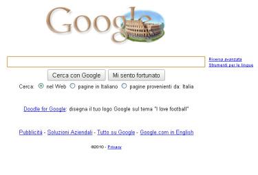 La home page di Google