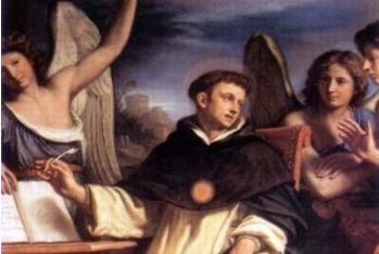 Guercino, S. Tommaso scrive assistito dagli angeli, 1662 (particolare)