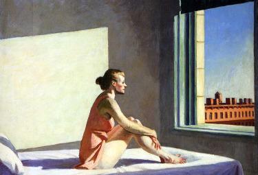 """""""Sole del mattino"""" di Edward Hopper (1952)"""