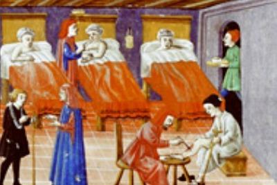 Hospital, Codice Squarcialupi, XV century