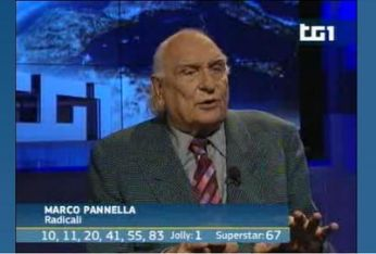 Marco Pannella al Tg1