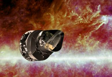 Una rappresentazione di Planck (Credits ESA - C. Carreau)