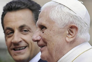 In a speech delivered before Pope Benedict XVI, President Sarkozy expressed hope for