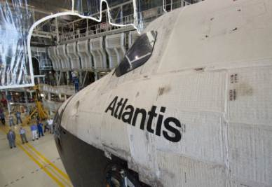 Lo shuttle Atlantis (Foto Nasa)