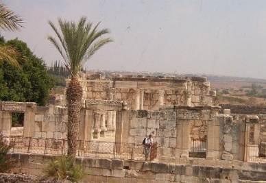 I resti della Sinagoga di Cafarnao
