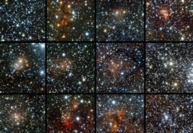 Alcune delle stelle fotografate da VISTA (Credits ESO/J. Borissova)