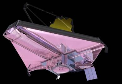 Una rappresentazione artistica del James Webb Space Telescope (Credit: Nasa)