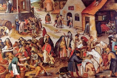 Painting depicting Charity