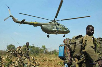 Ugandan army hunting rebels of the LRA
