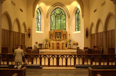 Interior of Our Lady of Walsingham church, Houston