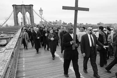 VIA CRUCIS/  NEW YORK: A PROCESSION OF PETERS