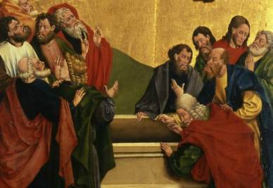 Johann Koerbecke, Assunzione della Vergine (1447), particolare
