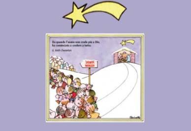 Gli auguri di Natale con la vignetta di Clericetti