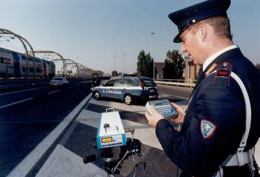 Un autovelox della polizia