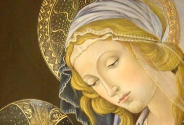Silvia Salvadori, riproduzione di Sandro Botticelli, Madonna del libro (1480-81)