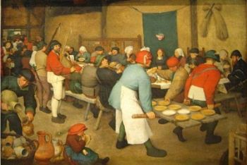 Pieter Bruegel il Vecchio, Banchetto nuziale (1568; particolare)