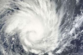 Un'immagine del ciclone Yasi