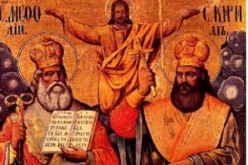 Icona con i santi Cirillo e Metodio