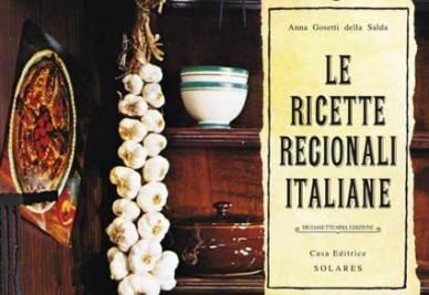 """La copertina de """"Le Ricette Regionali Italiane"""" (particolare)"""