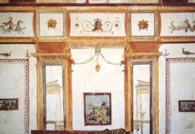 Esempio di grottesche della Domus Aurea