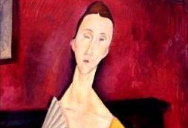 (Modigliani, Donna con ventaglio - particolare)