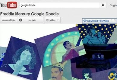 Il doodle con il video dedicato a Freddie Mercury