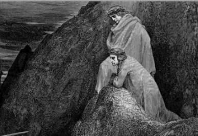 Gustave Dorè, Illustrazione de La Divina Commedia (Dante e Virgilio incontrano Maometto)